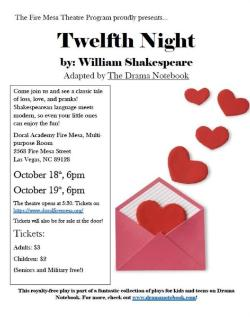 Theatre Fall Production - Twelfth Night